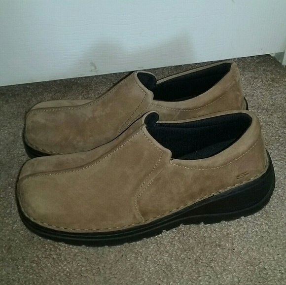 Mens Skechers Phoenix Loafers Sz 12 M Used Brown Leathe